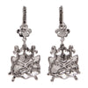 Princess Kitty Drop Leverback Earrings - Cat Jewelry - Back Side