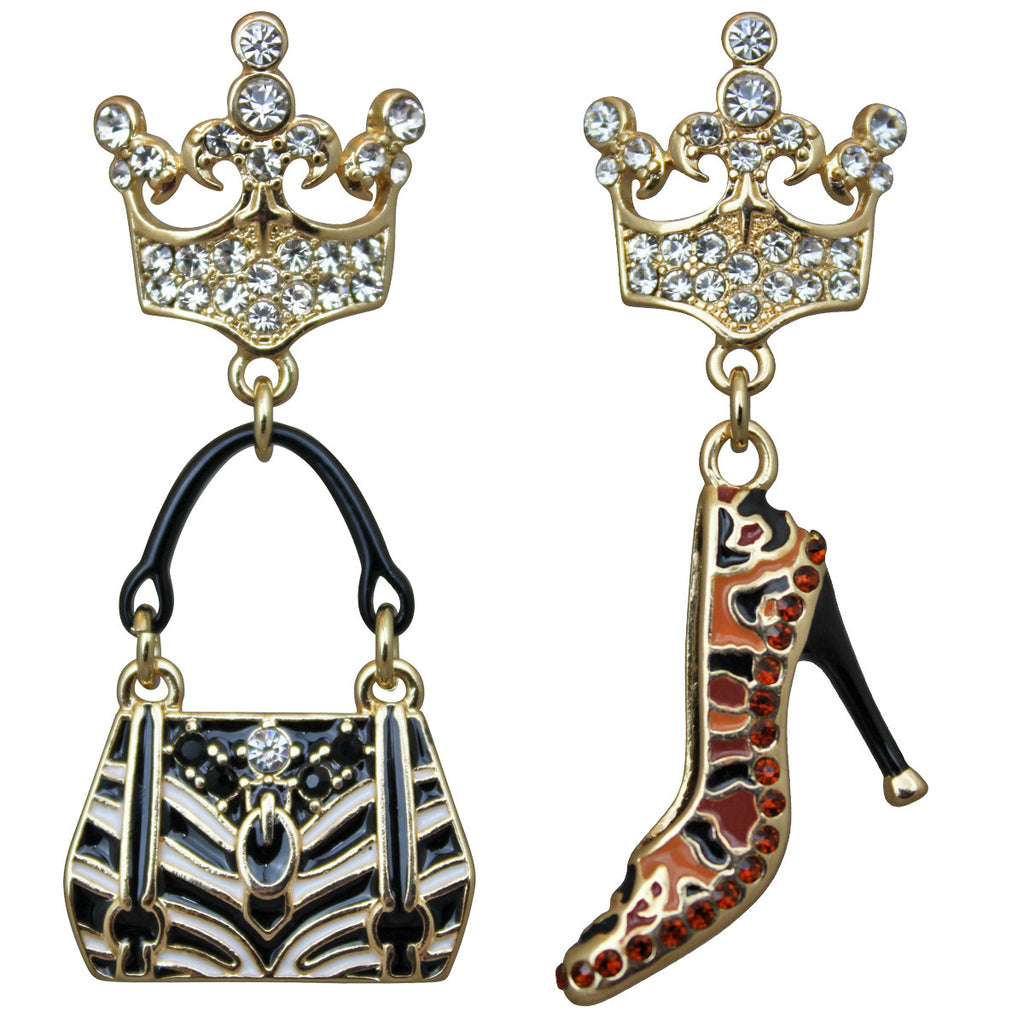 Purse and Shoe Shopping Accessories Jewelry Earrings