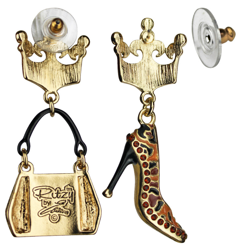Purse and Shoe Shopping Accessories Jewelry Earrings | Back Side