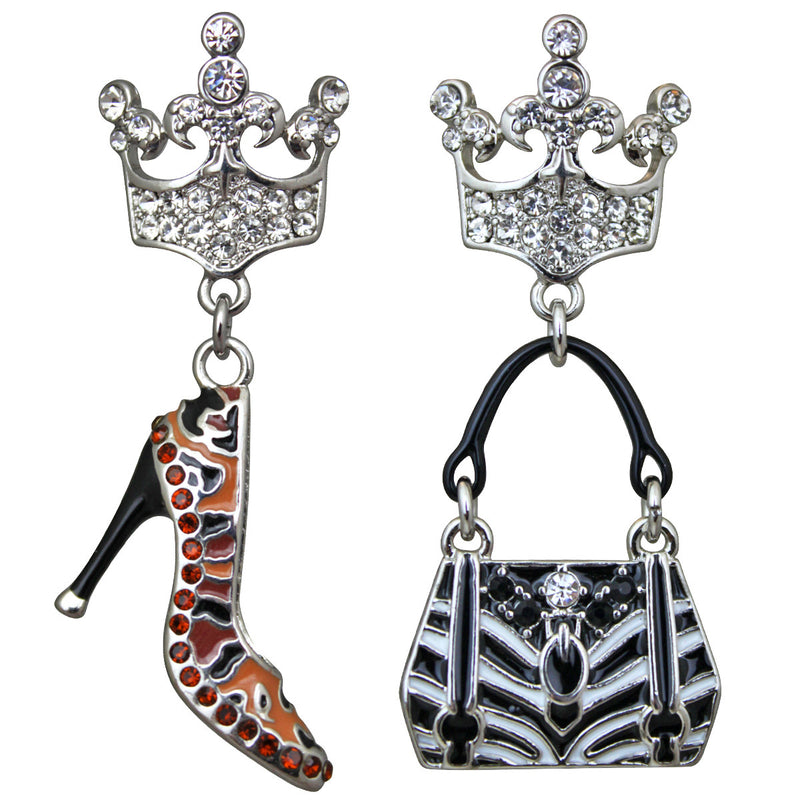 Purse and Shoe Shopping Accessories Dangle Earrings