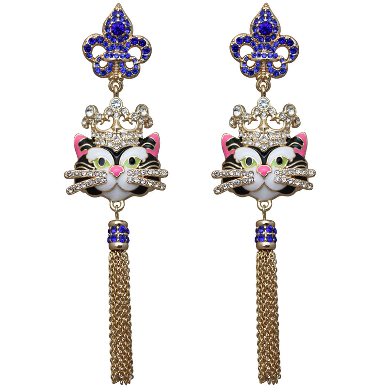 Princess Kitty Royal Tassel Earrings For Women