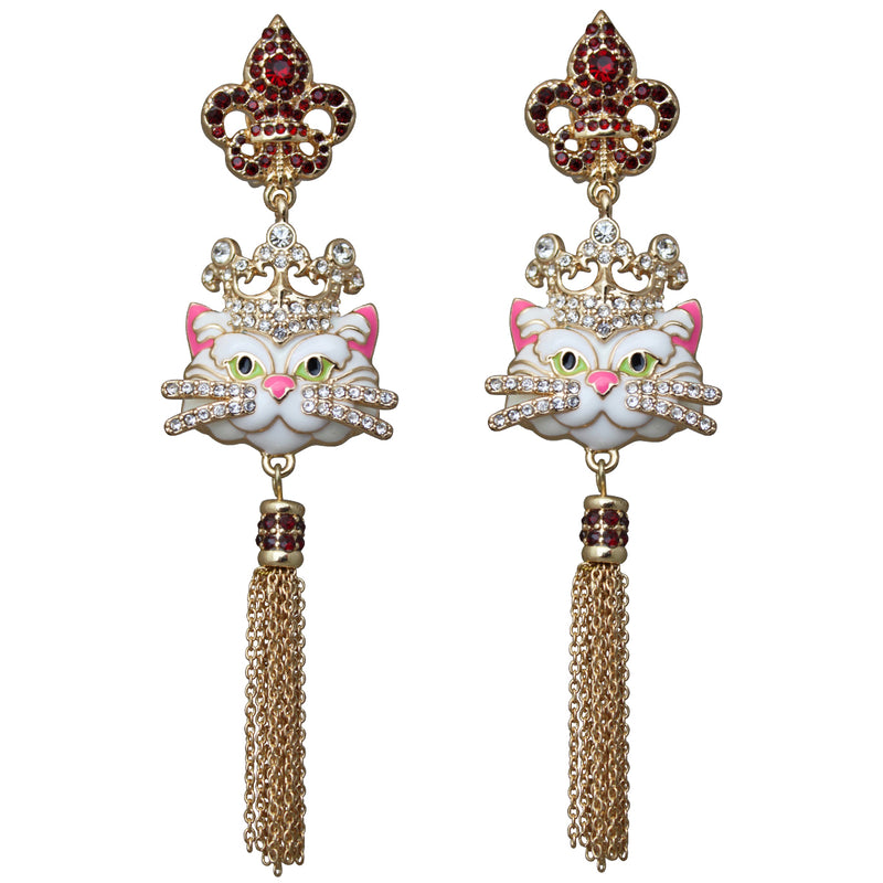 Princess Kitty Royal Tassel Jewelry Earrings For Women