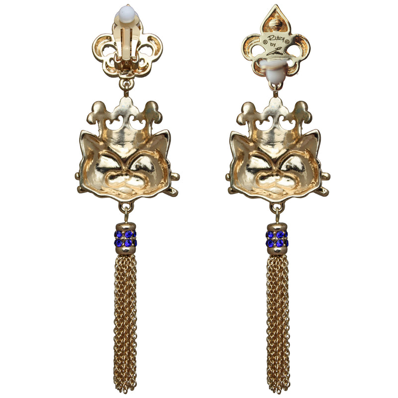Princess Kitty Royal Tassel Earrings For Women | Back Side