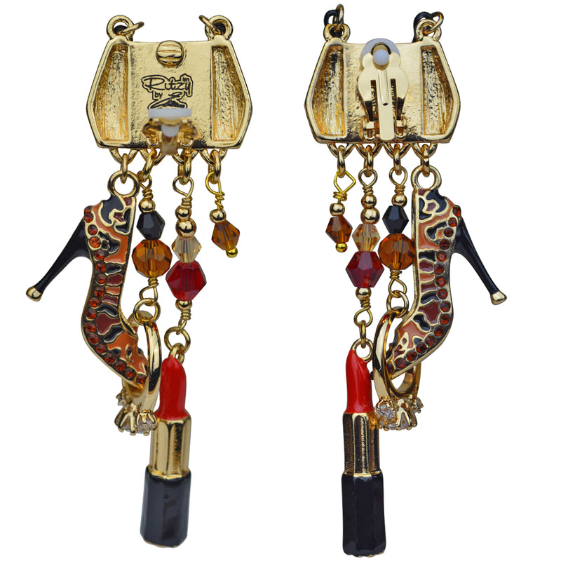 Shopping Accessories Multi Charm Jewelry Earrings - Back Side