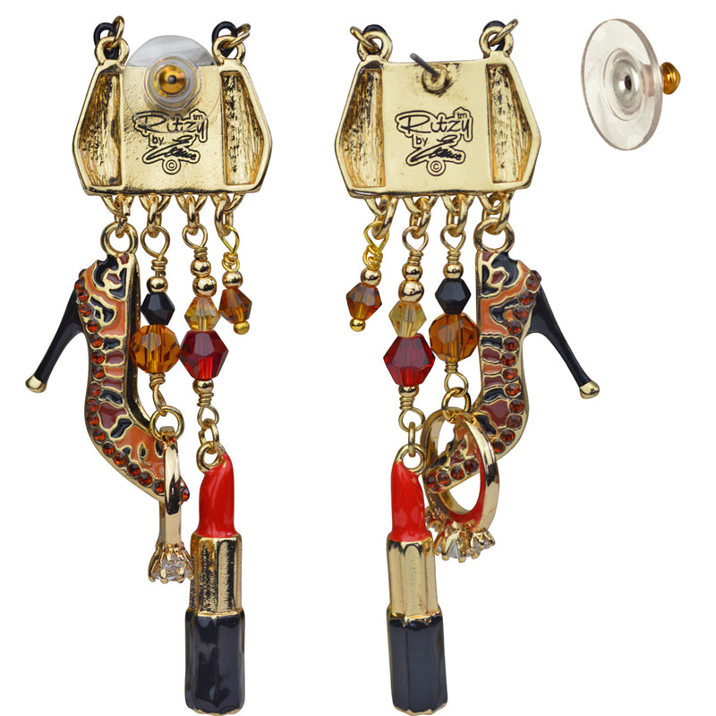 Shopping Accessories Multi Charm Jewelry Earrings | Back Side
