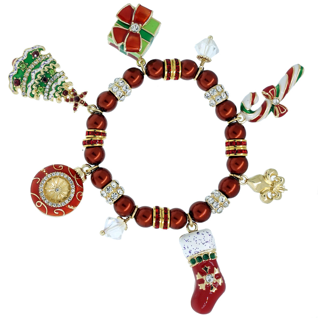 Christmas Cheer Charm Bracelets - Bracelets For Women