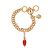 Ritzy Couture Red Christmas Lights Enhancer Charm (Goldtone)