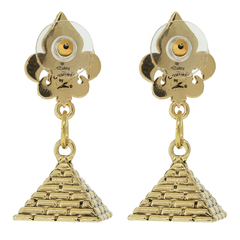 Pyramid Wonder of Giza Travel Earrings - Pyramid Earrings | Back Side