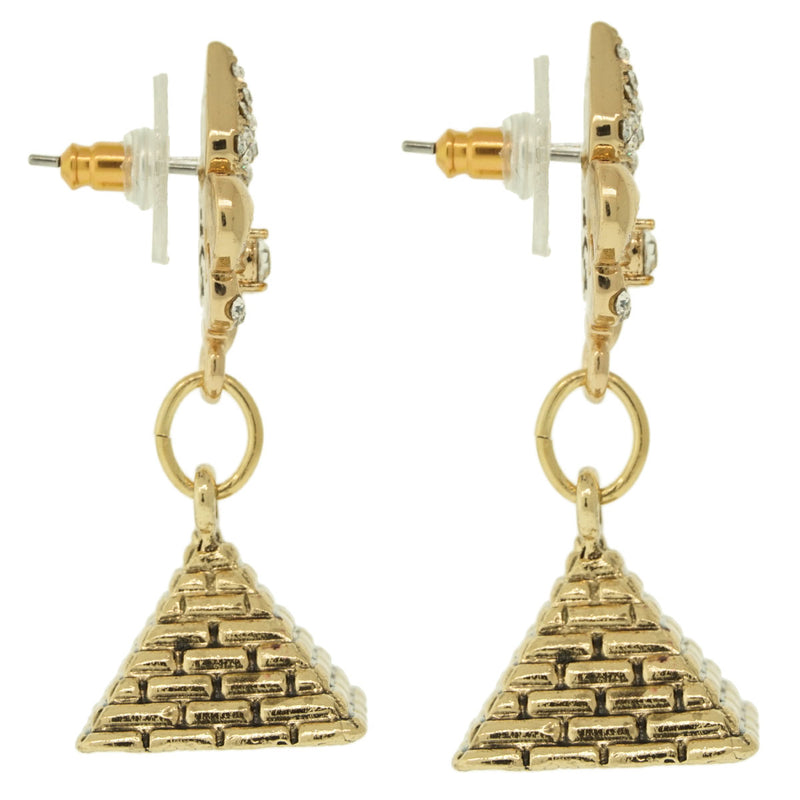 Pyramid Wonder of Giza Travel Earrings - Pyramid Earrings - Side View