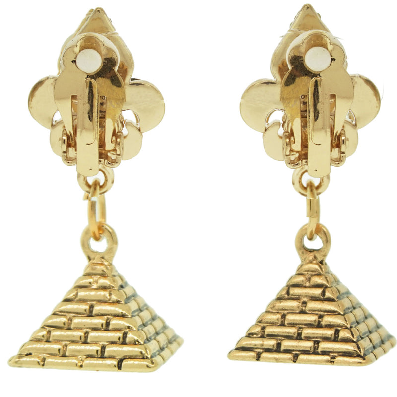 Pyramid Wonder of Giza Travel Earrings - Pyramid Earrings - Back Side