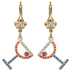 Pave Crystal Margarita Cocktail Earrings For Women - Back Side