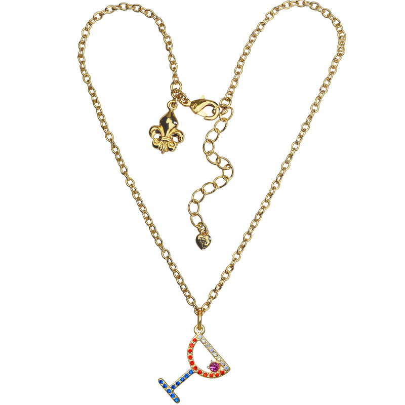 Margarita Cocktail Charm Necklace For Women - Cocktail Jewelry
