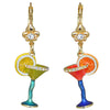 Pool Party Cocktail Glass Multi Color Earrings For Women