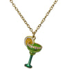 Frozen Margarita Cocktail Charm Necklace Jewelry