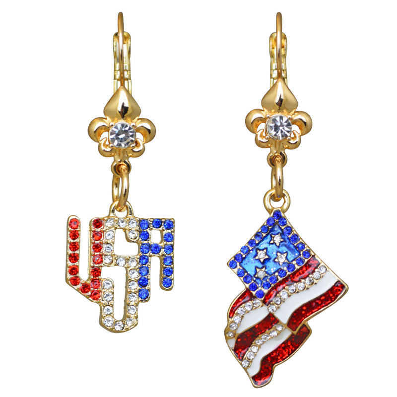 American Flag Earrings For Women - American Earrings