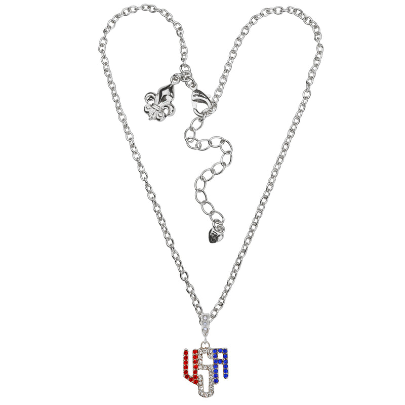 American Flag Multi Color Charm Necklace Jewelry | American Jewelry