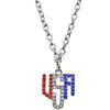 Triple Chain American Flag Necklace | American Necklace