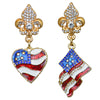 American Flag Multi Color Charm Earrings - Jewelry Earrings