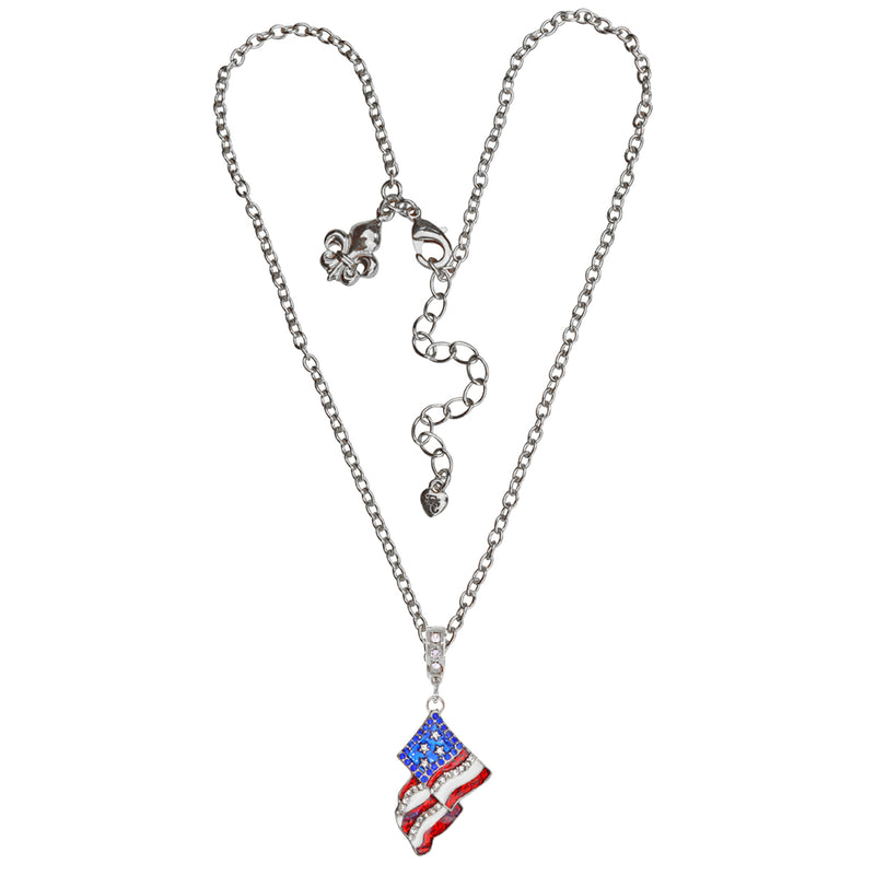 American Flag Pendant Necklace | American Necklace Jewelry