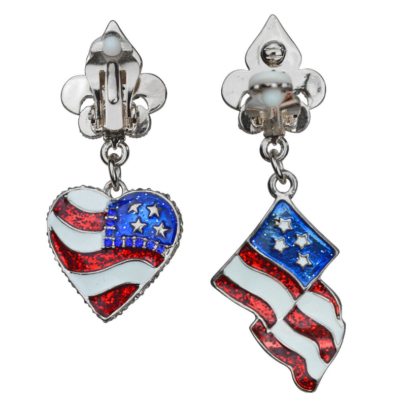 American Flag Earrings For Women - American Flag Earrings - Back Side