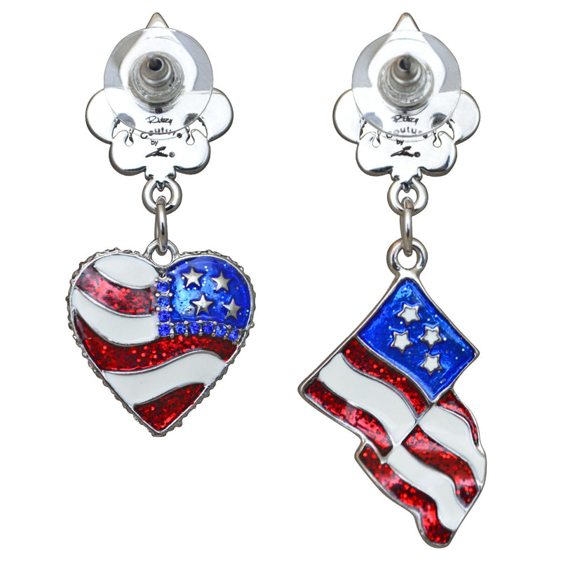 American Flag Earrings For Women | American Flag Jewelry