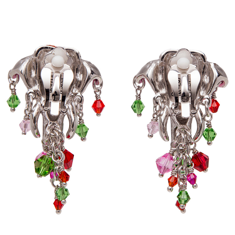 Royal Maharaja Painted Elephant Earrings For Women | Back Side