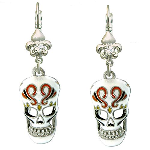 Skull Dangles Halloween Earrings - Halloween Jewelry
