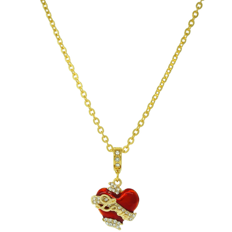 Love Heart Necklace With Chain | Love Heart Bracelet