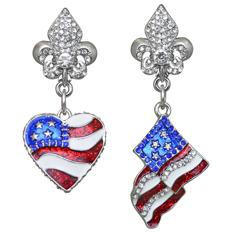 American Flag Earrings For Women - American Flag Jewelry
