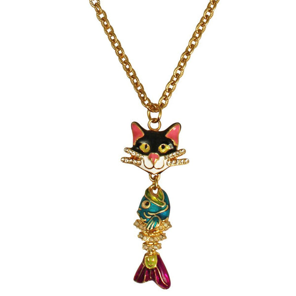 Alley Cats and Fish Necklace Ritzy Couture