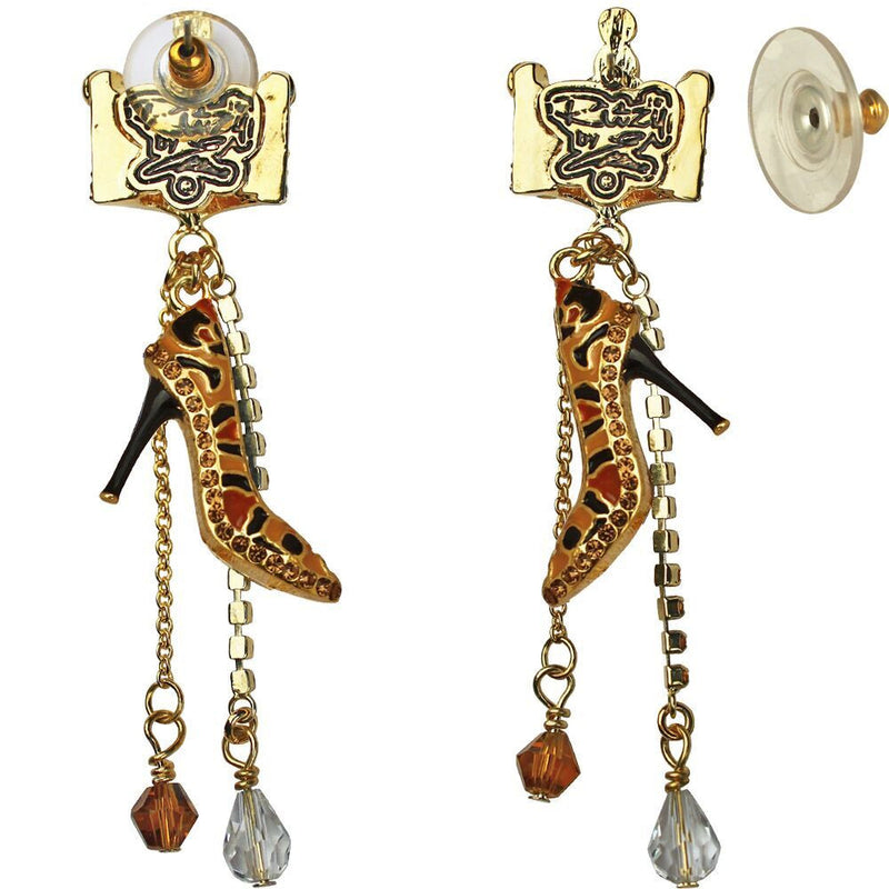 Queen Crown Shoe Dangle Earrings - Queen Crown Earrings