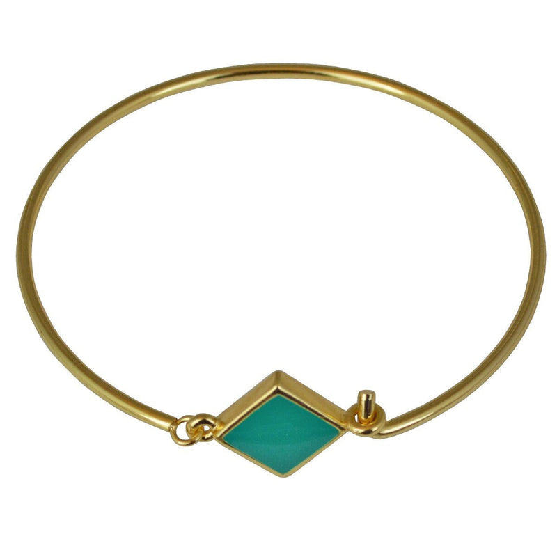 Hinged Wire Teal Clasp Bangle For Women | Bangle Bracelet