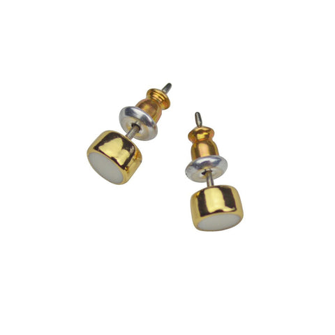 Couture Select White Enamel Stud Earring Set