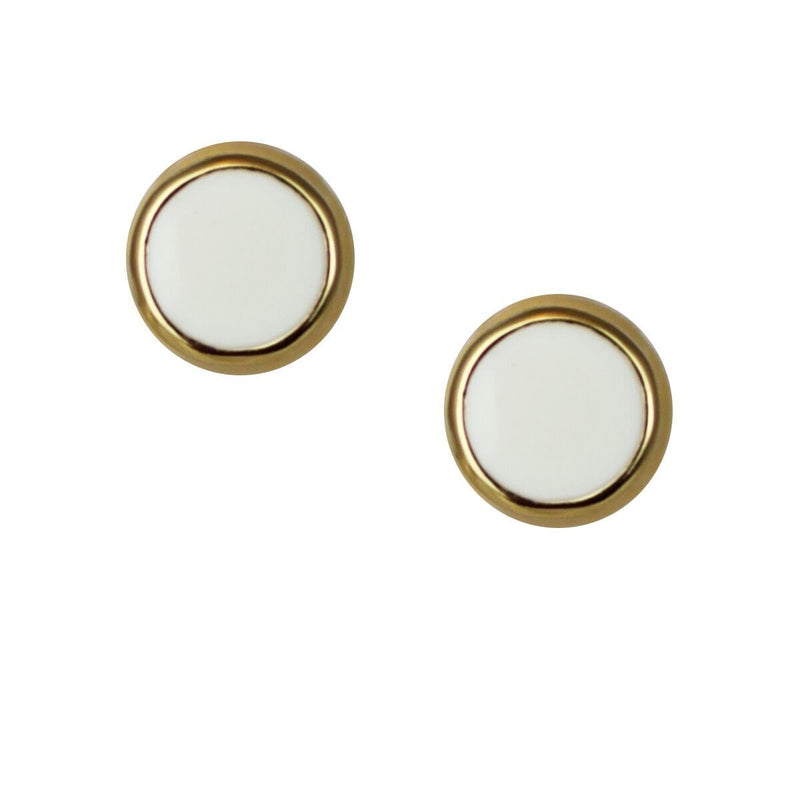 White Enamel Stud Earring Set For Women | Stud Earrings