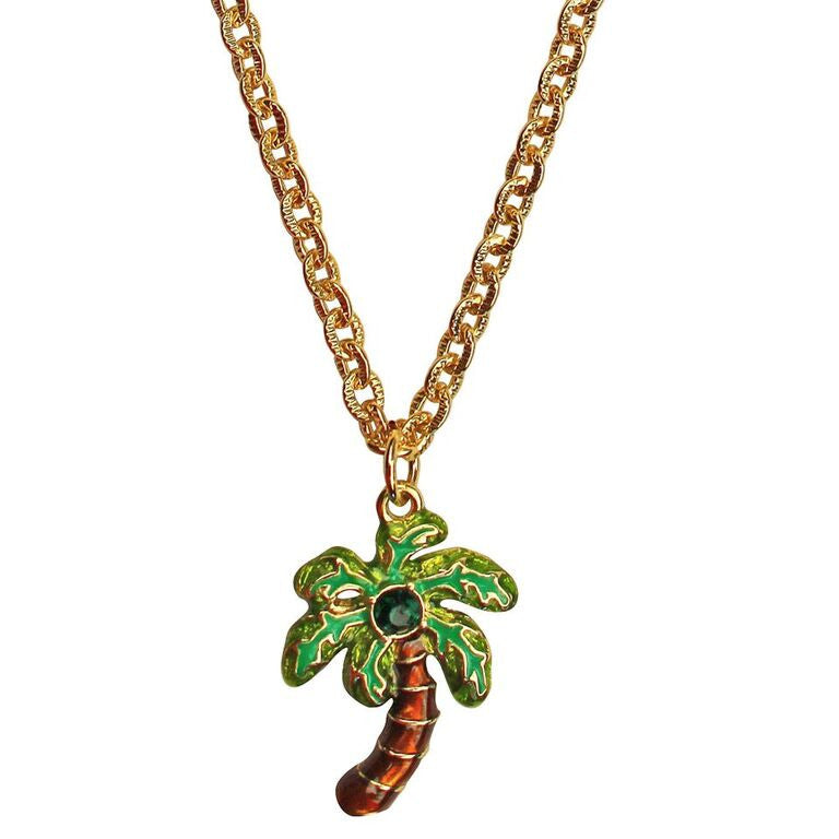 Royal Palms Two sided Charm Necklace - Necklace Jewelry