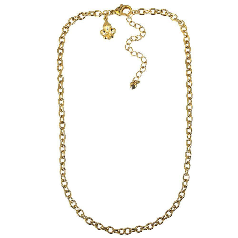 Cable Link Fleur-de-Lis Signature Pin Pendant Chain
