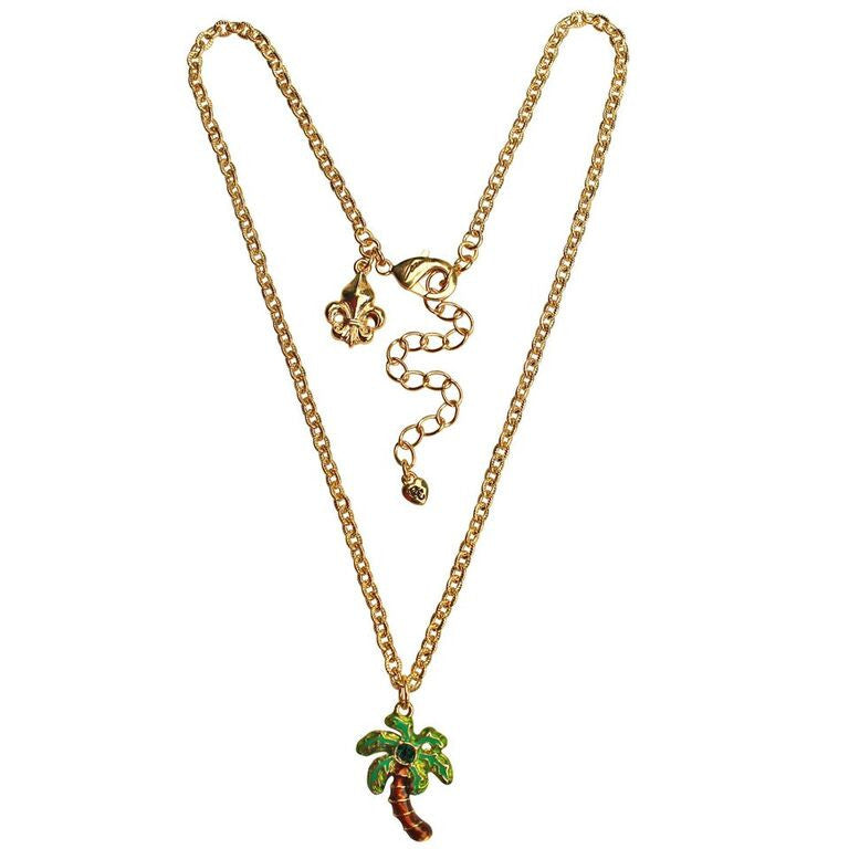 Royal Palms Two sided Charm Necklace | Necklace Jewelry | Green Color