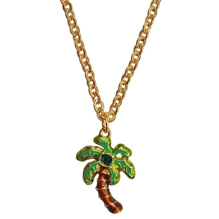 Royal Palms Two sided Charm Necklace | Necklace Jewelry