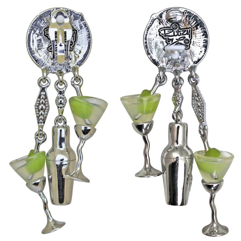Martini & Shaker Charm Earrings | Cocktail Earrings | Pair