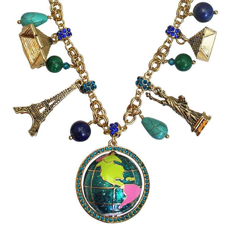 """World Around Us"" Multi Charm Necklace - World Jewerly"