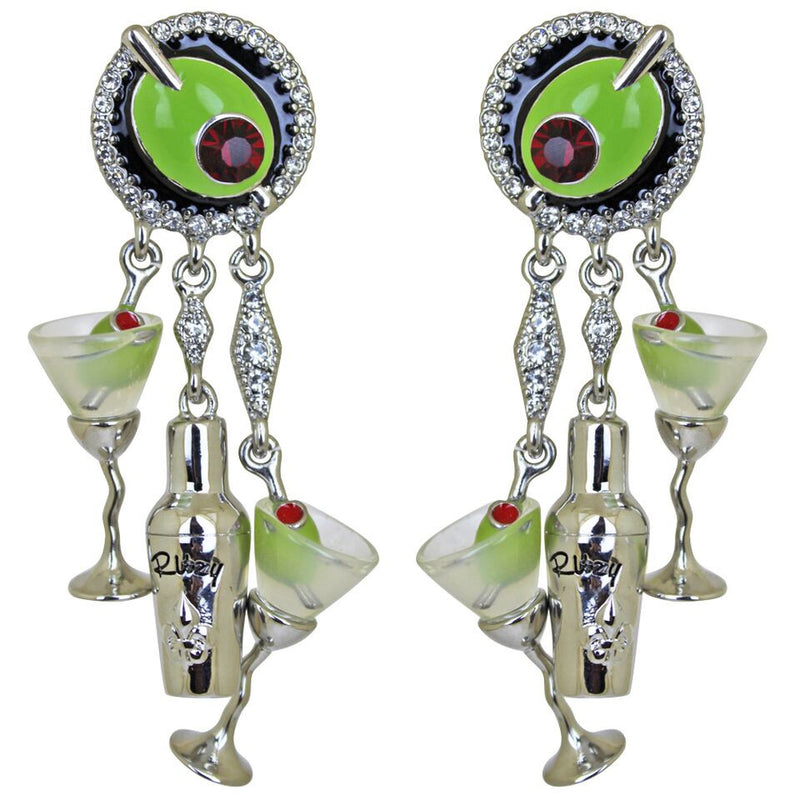 Martini & Shaker Charm Earrings | Cocktail Earrings