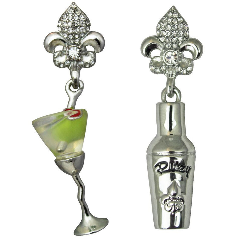 Martini and Shaker Charm Earrings | Cocktail Earrings