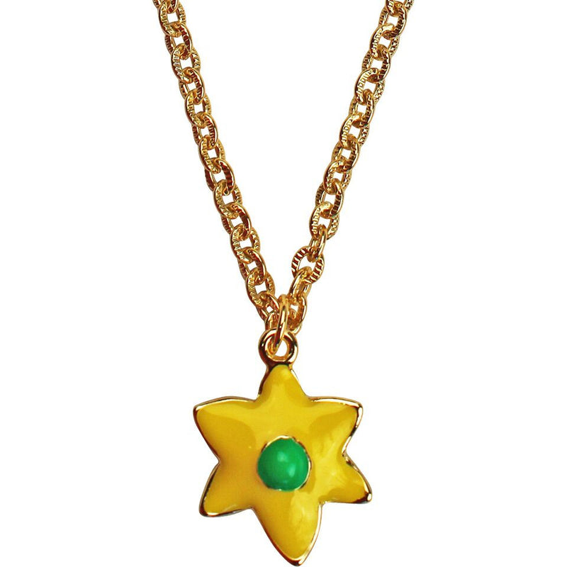 Daffodil Multi Color Charm Necklace | Necklace Jewelry | Front Side