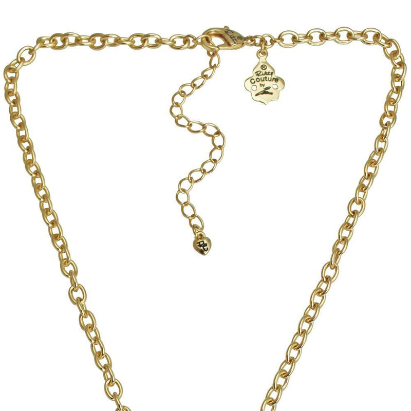 Cable Link Fleur-de-Lis Signature Pin Pendant Chain - Lock Side