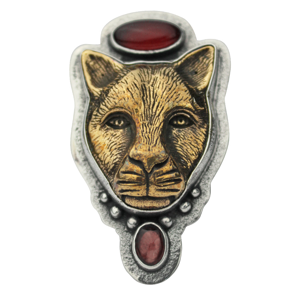 Tabra Jewelry - Bronze Jaguar Carnelian Ring