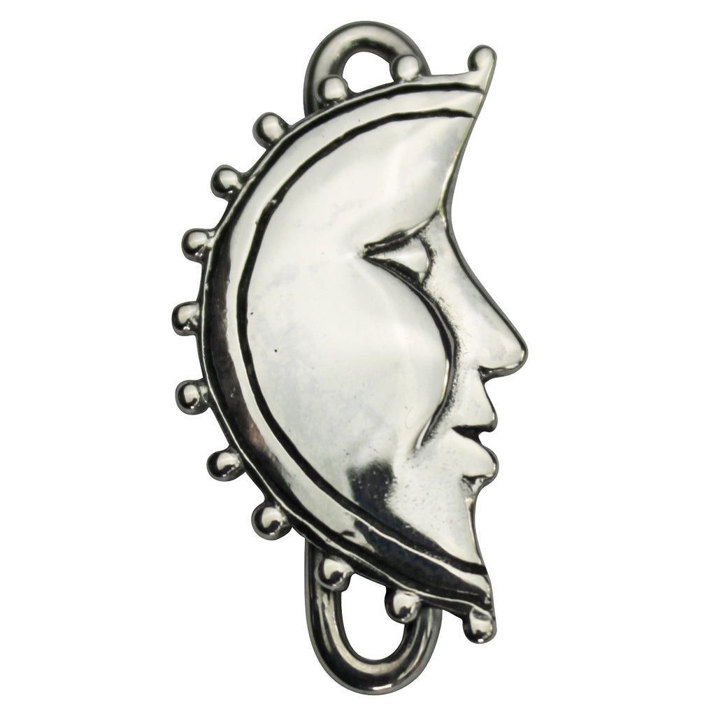 Tabra Charm Jewelry - Silver Moon Connector Charm
