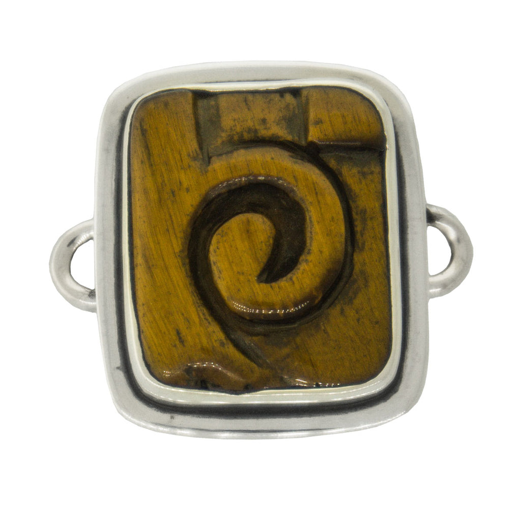 Tabra Jewelry - Silver Tiger Eye Connector Charm