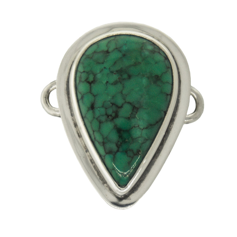 Tabra Jewelry - Silver Chinese Turquoise Connector Charm