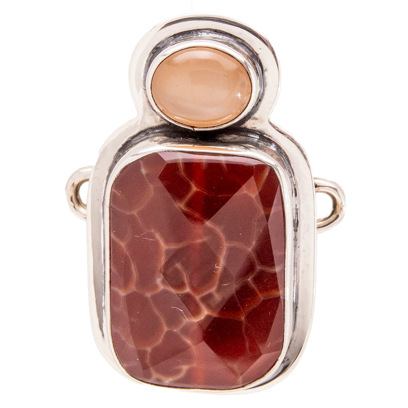 Tabra Jewelry - Snake Skin Agate Connector Charm