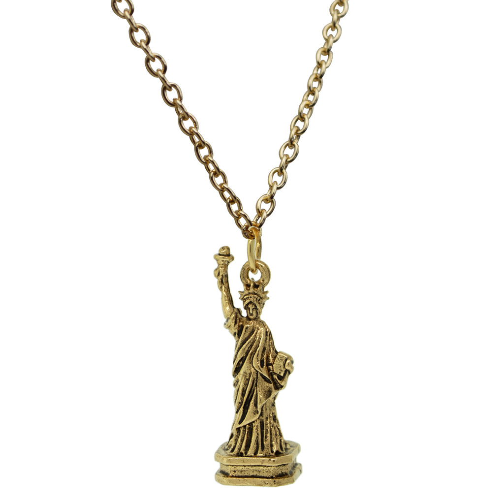 Statue of Liberty Travel Charm Necklaces For Women
